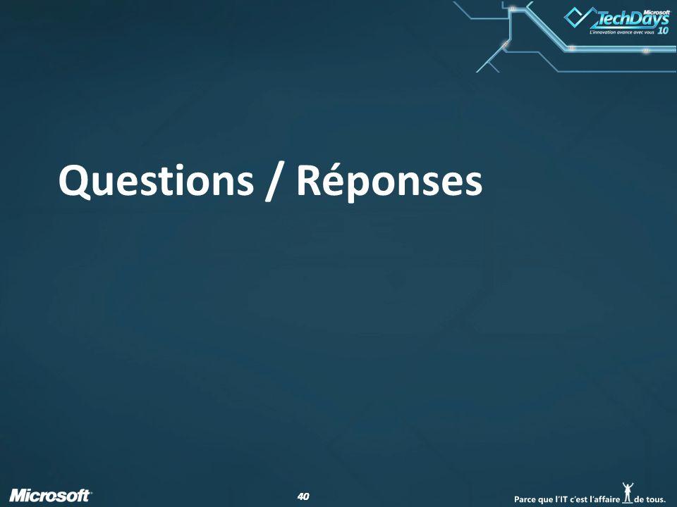 40 Questions / Réponses