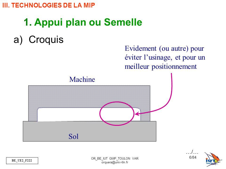 BE_UE2_F222 OR_BE_IUT GMP_TOULON VAR orquera@univ-tln.fr 57/84 Vis H, M16-20, 6.8 -Y : permet de déterminer la résistance élastique du matériau en daN/mm² Re=Y*S ici, Re= 6*8= 48 daN/mm² -S : cest le 1/10 ème de la résistance minimale à la rupture par traction Rr du matériau en daN/mm² S=Rr/10 => Rr=10*S ici, Rr= 60 daN/mm² Déformation Plastique Rupture …/… Y S