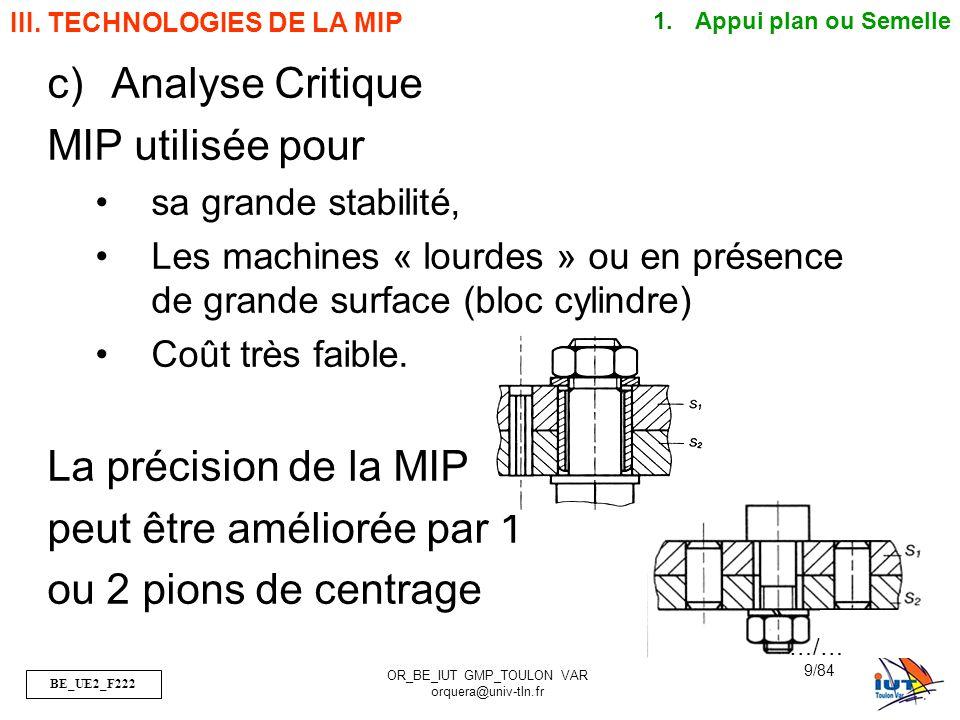 BE_UE2_F222 OR_BE_IUT GMP_TOULON VAR orquera@univ-tln.fr 10/84 III.