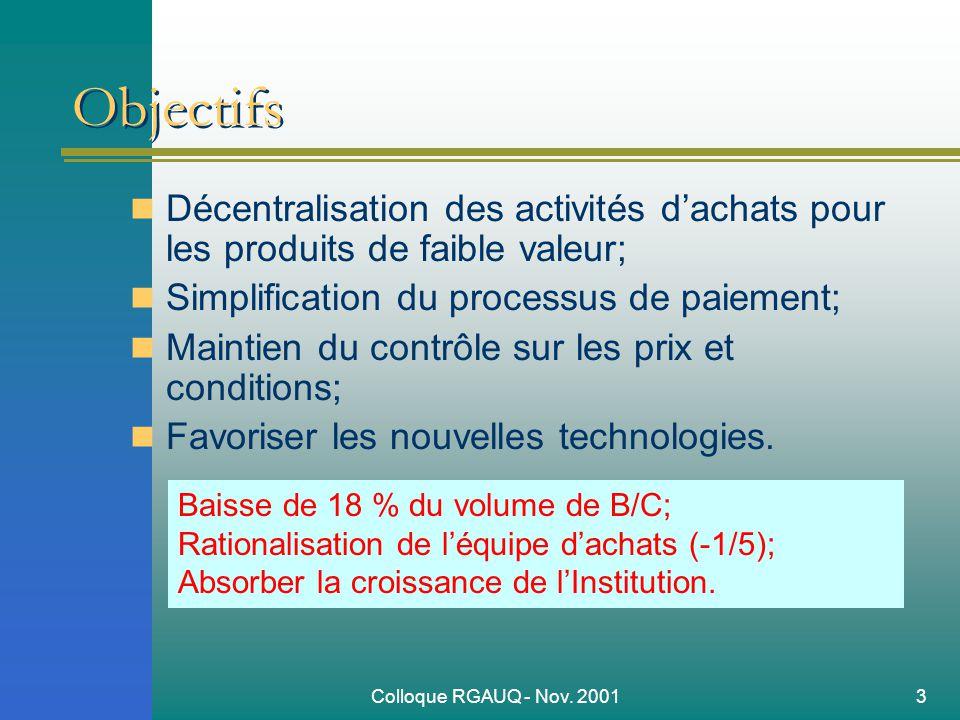 Colloque RGAUQ - Nov.