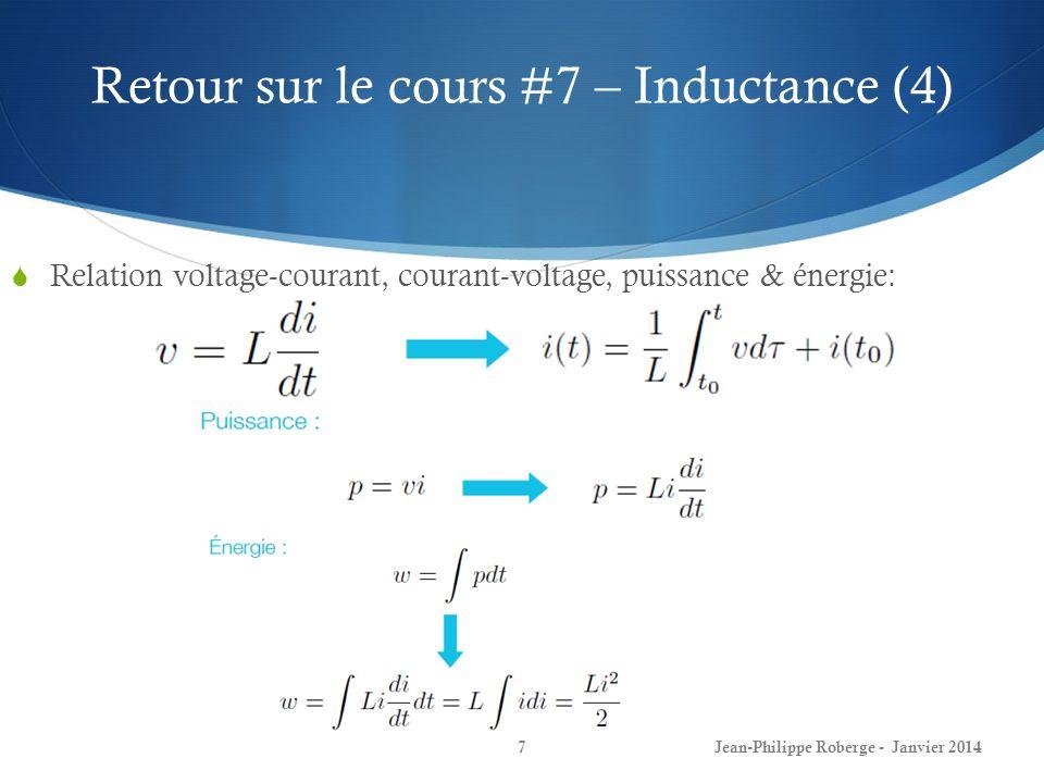 Retour sur le cours #7 – Capacitance (1) Quest-ce quune capacitance.