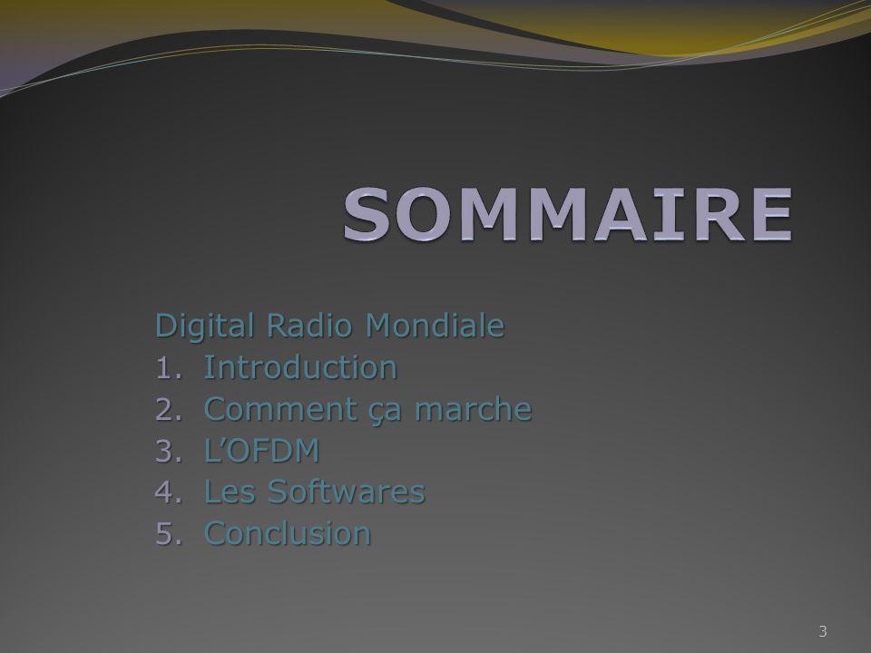 La Digital Radio Mondiale, soit DRM, est une norme de radio diffusion numérique.