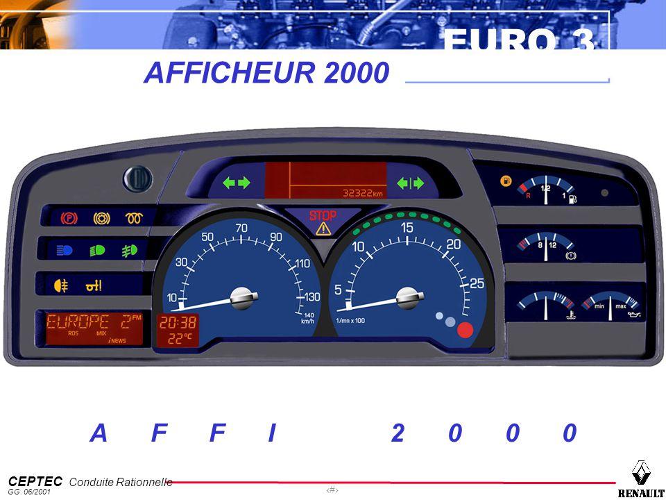 EURO 3 CEPTEC Conduite Rationnelle GG. 06/2001 1 AFFICHEUR 2000 A F F I 2 0 0 0