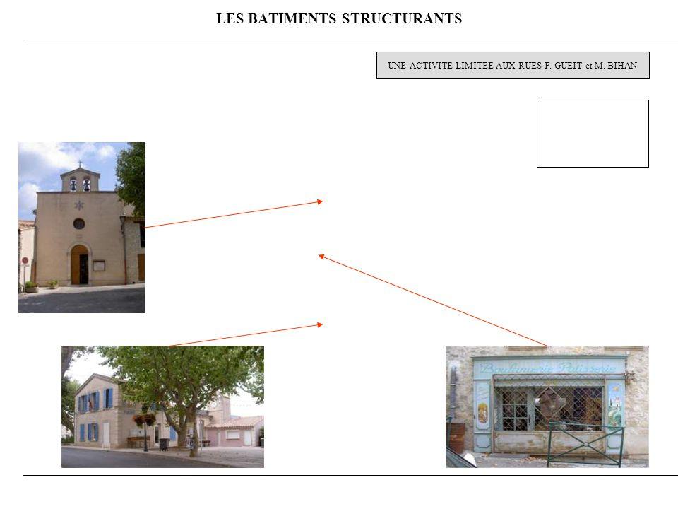 LES BATIMENTS STRUCTURANTS UNE ACTIVITE LIMITEE AUX RUES F. GUEIT et M. BIHAN