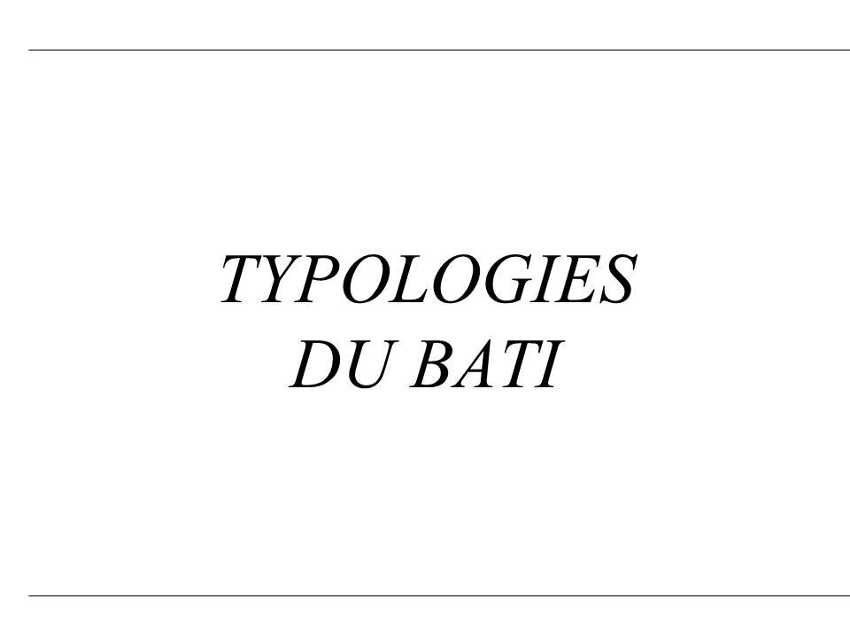 TYPOLOGIES DU BATI