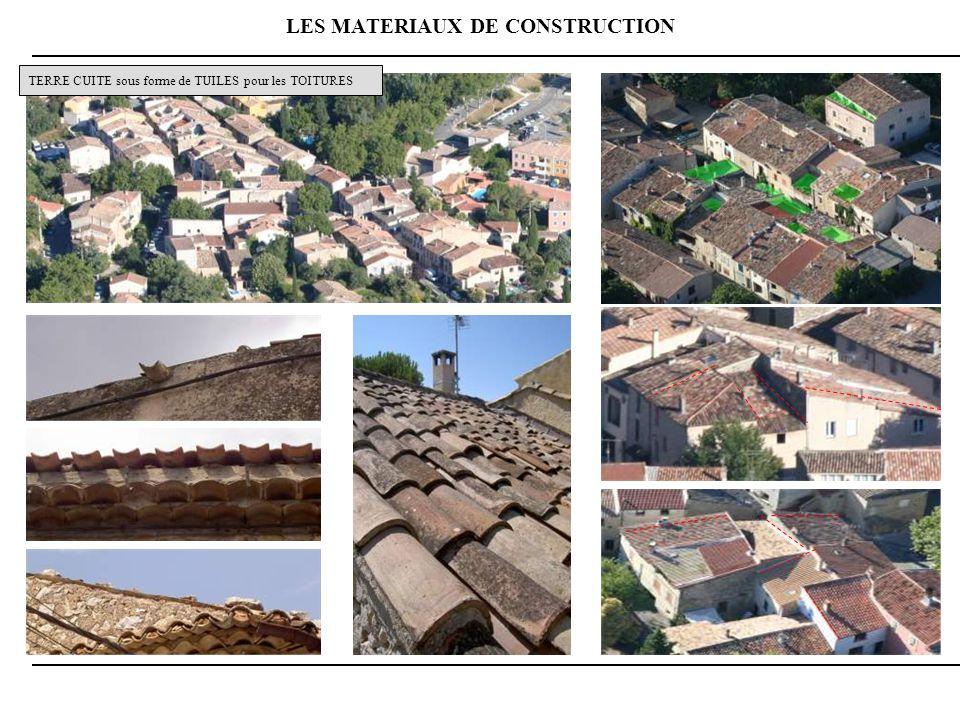 LES MATERIAUX DE CONSTRUCTION TERRE CUITE sous forme de TUILES pour les TOITURES