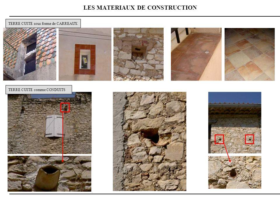 LES MATERIAUX DE CONSTRUCTION TERRE CUITE sous forme de CARREAUX TERRE CUITE comme CONDUITS