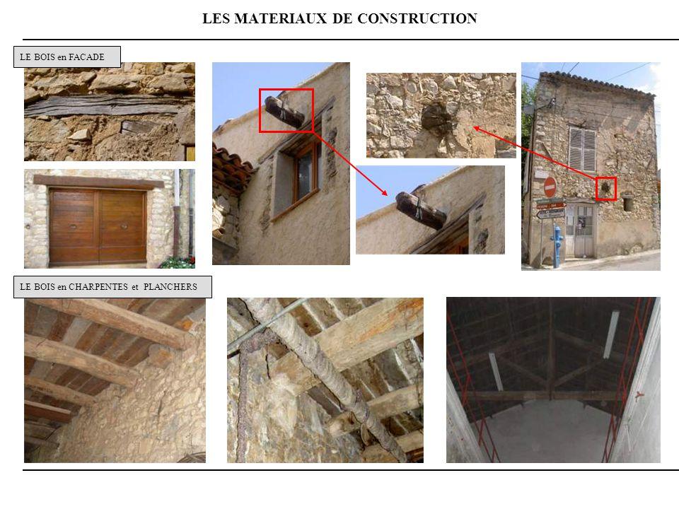 LES MATERIAUX DE CONSTRUCTION LE BOIS en FACADE LE BOIS en CHARPENTES et PLANCHERS