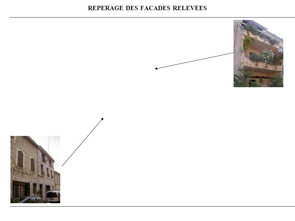 REPERAGE DES FACADES RELEVEES