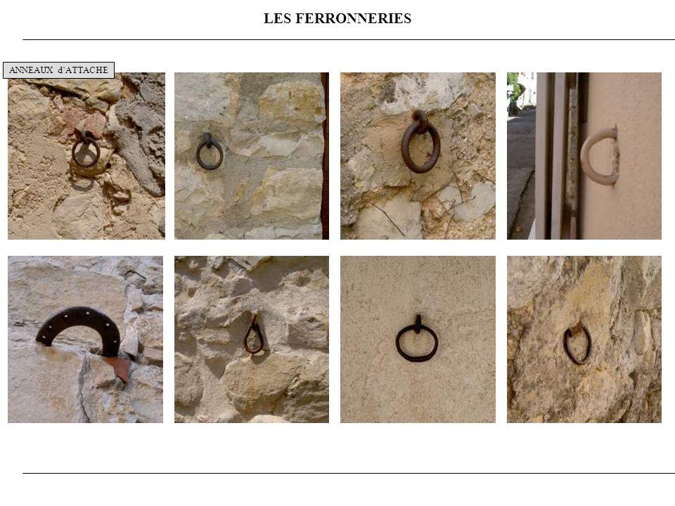 LES FERRONNERIES ANNEAUX dATTACHE