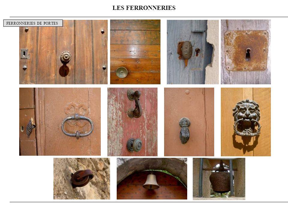 LES FERRONNERIES FERRONNERIES DE PORTES