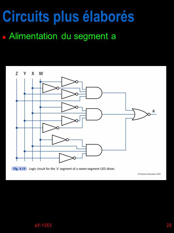 sif-105325 Circuits plus élaborés n Alimentation du segment a