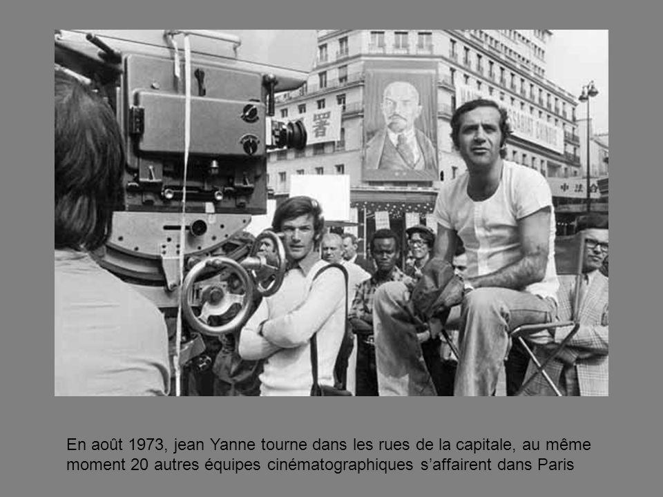 En août 1973, jean Yanne tourne dans les rues de la capitale, au même moment 20 autres équipes cinématographiques saffairent dans Paris