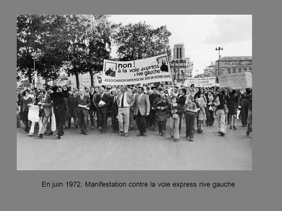 1975 : « vue de lenfer du périphérique » ouvert en 1973, 36 km, le cauchemar des riverains
