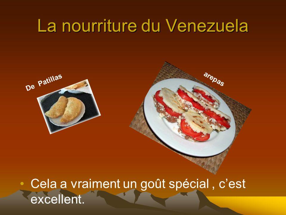 La nourriture du Venezuela Cela a vraiment un goût spécial, cest excellent. De Patillas arepas