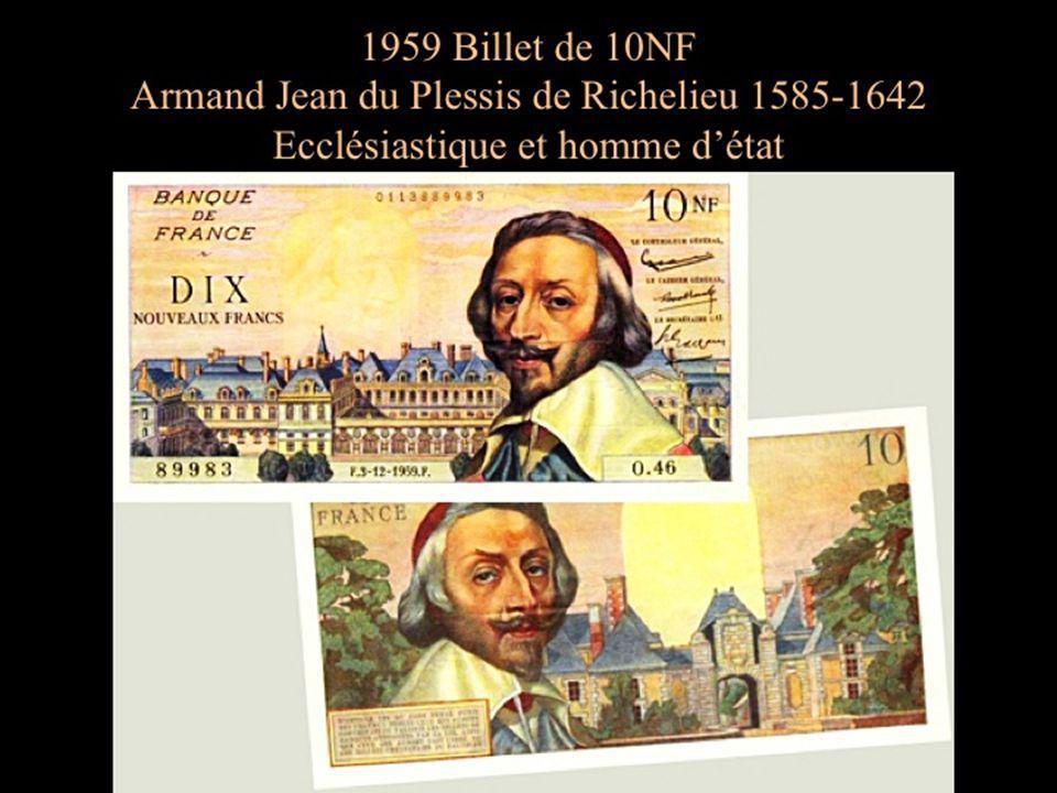 Les billets édités en 1959 avaient la particularité dafficher le montant en NF (Nouveau Franc).