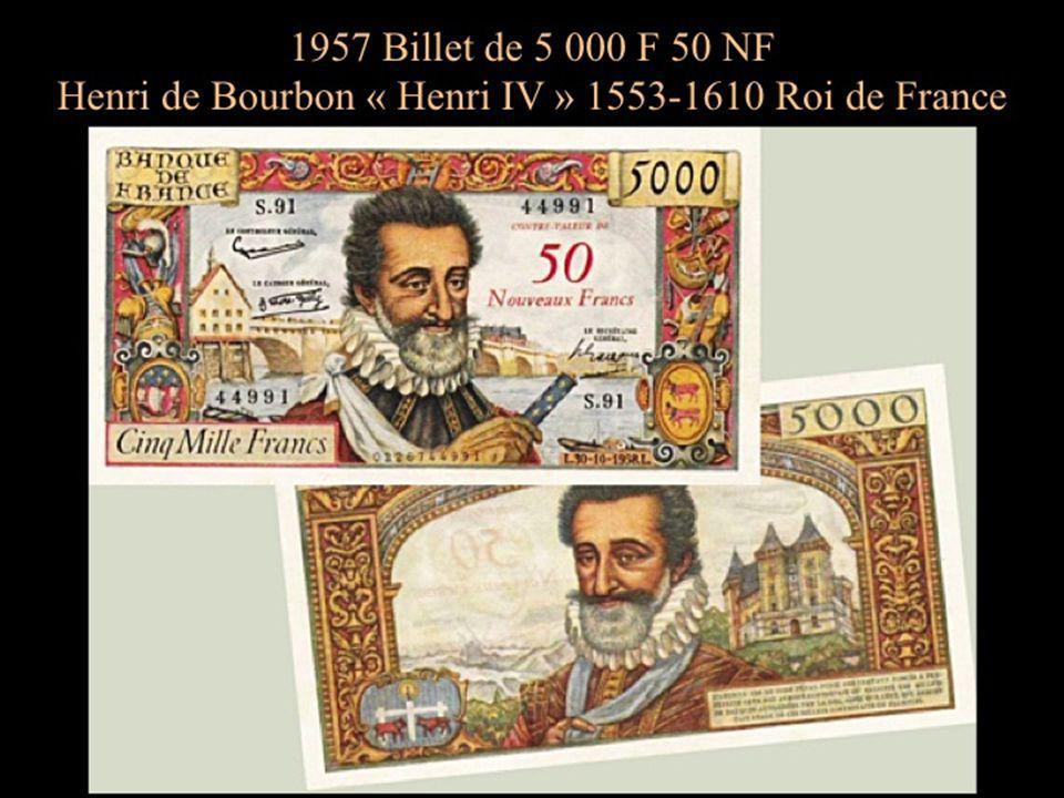 Avant la mise en service des nouveaux francs le 1er janvier 1960 et afin de familiariser les français avec la future monnaie, les billets étaient édités avec les anciens et nouveaux francs.