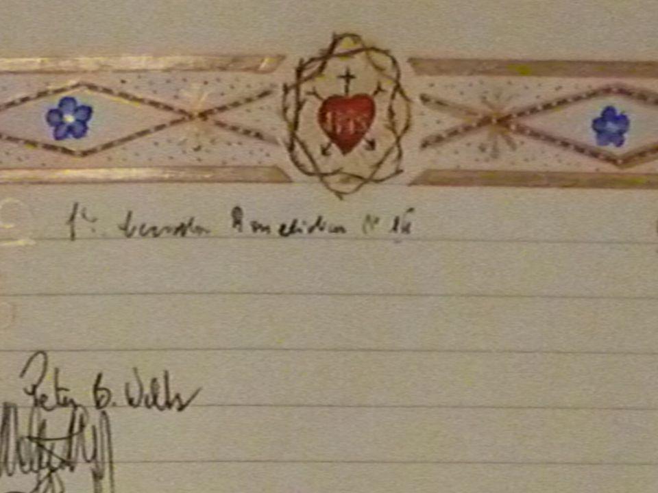 Livre des Messes avec la signature du Pape