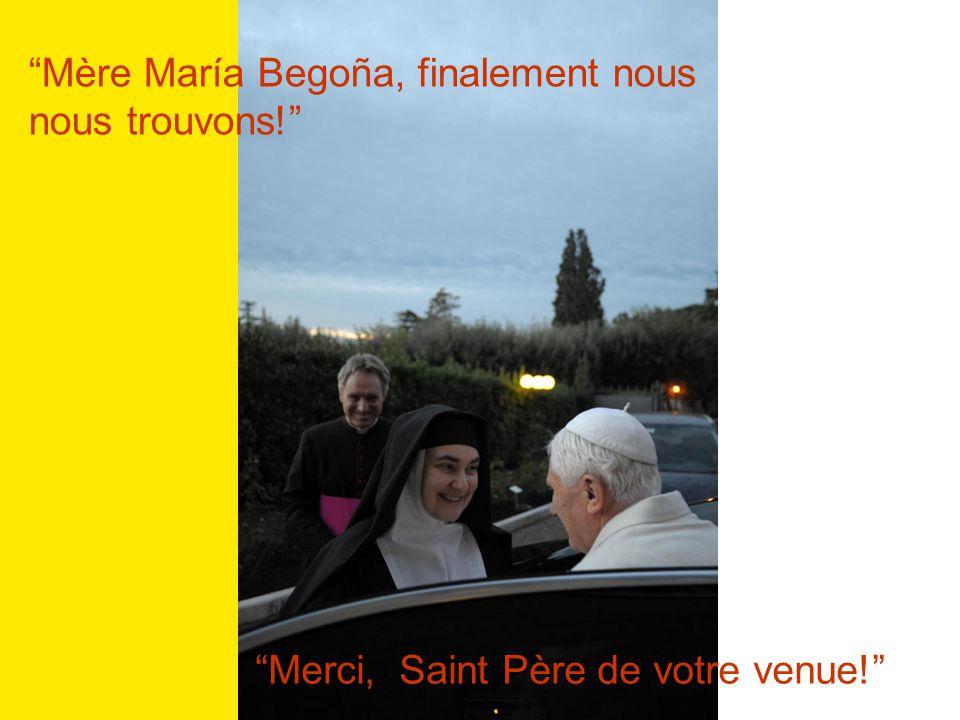 Vive Jésus VISITE DU SAINT PÈRE 14 décembre 2010 AU MONASTÈRE MATER ECCLESIAE IV Centenaire de la fondation de lOrdre de la VISITATION SAINTE-MARIE