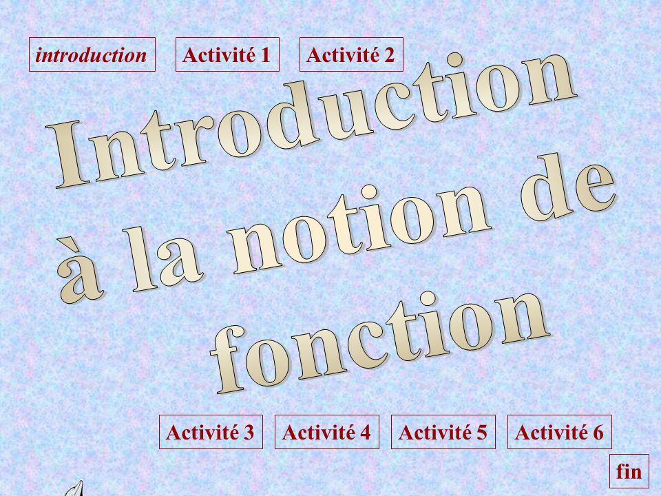 introductionActivité 1Activité 2 Activité 3Activité 4Activité 5Activité 6 fin