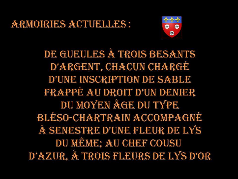 Armoiries de Chartres En 1696 Sous le Premier Empire