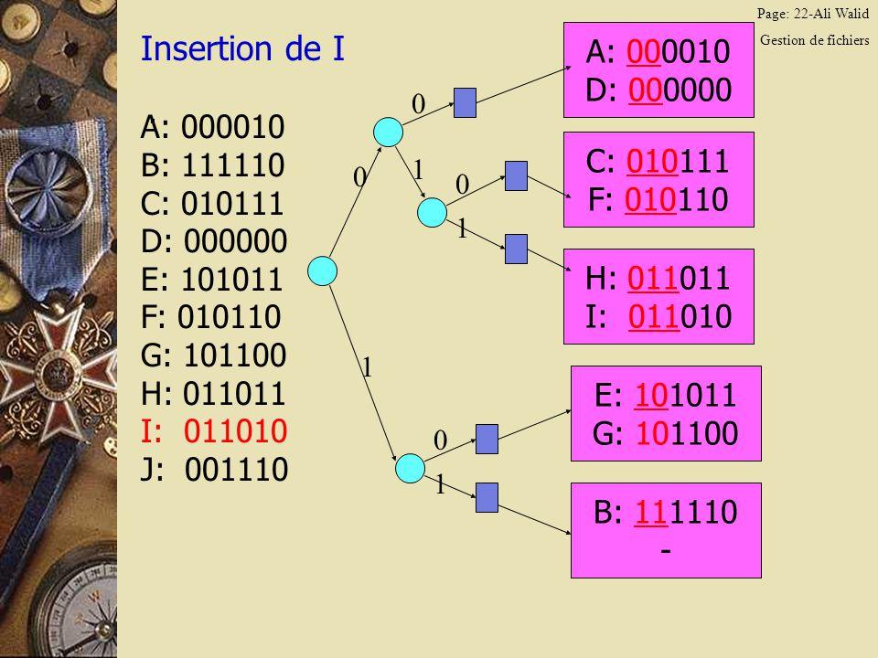Page: 22-Ali Walid Gestion de fichiers Insertion de I.
