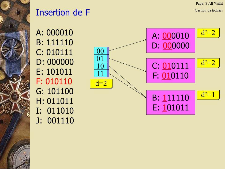 Page: 19-Ali Walid Gestion de fichiers Insertion de F.