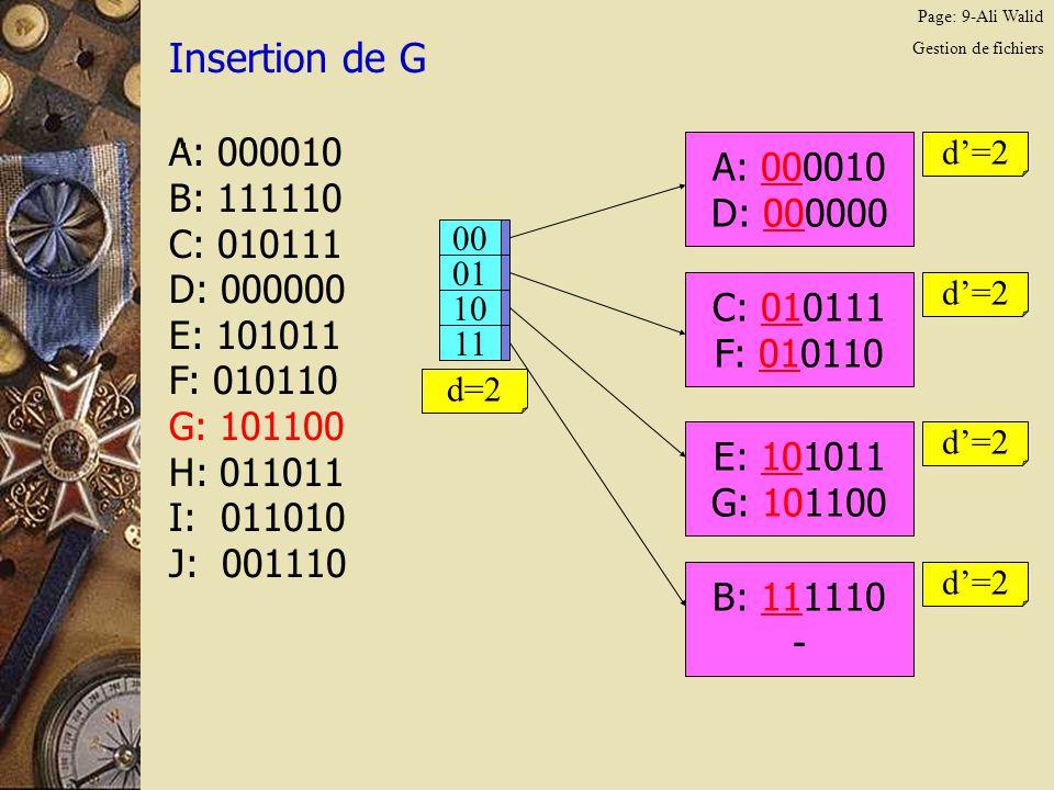 Page: 20-Ali Walid Gestion de fichiers Insertion de G.