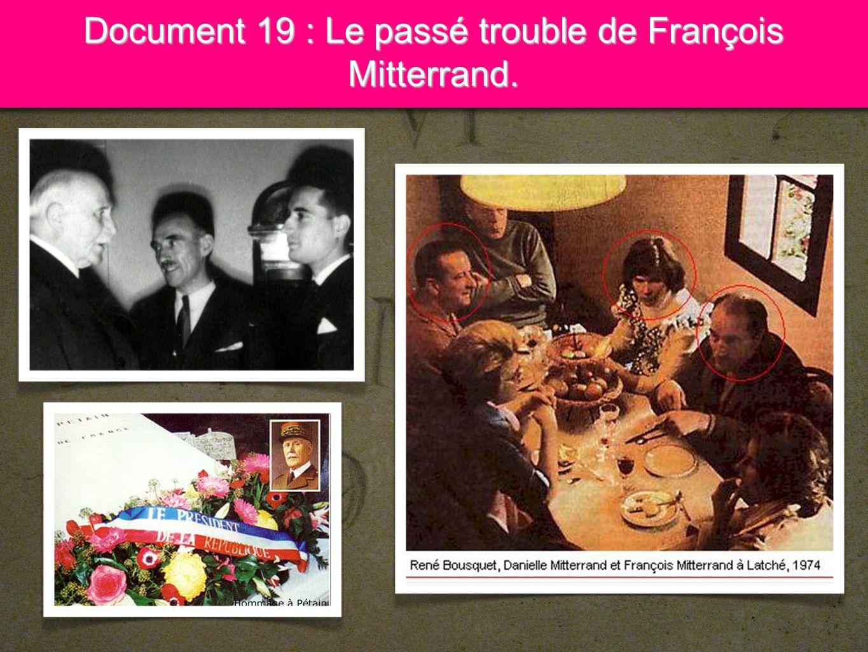 14 Document 19 : Le passé trouble de François Mitterrand.