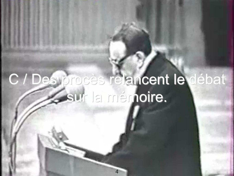 5 Document 13 : Extrait du film «Shoah» de Claude Lanzmann, 1985.