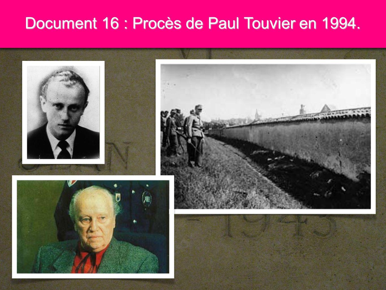 9 Document 17 : Procès de Maurice Papon en 1997.
