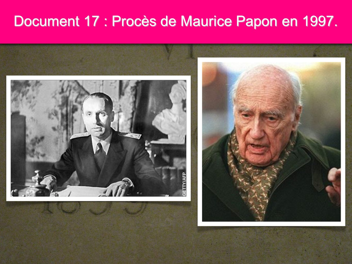 9 Document 17 : Procès de Maurice Papon en 1997.