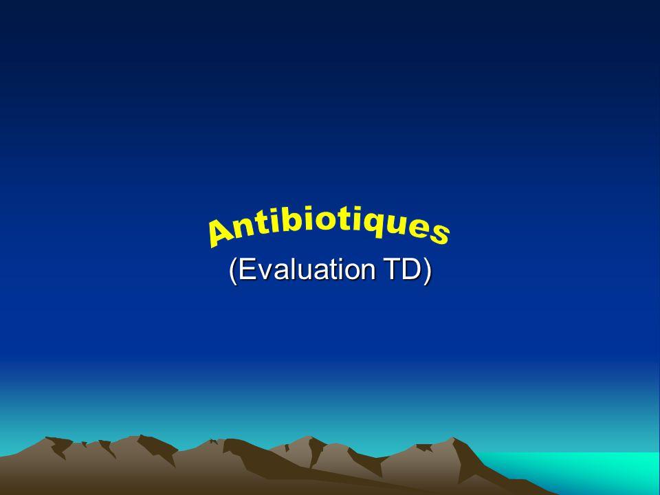 QCM 10: Synthèse Lindication dun antibiotique donné implique: A)La réalité de linfection bactérienne B)Lactivité de lantibiotique sur les principaux germes rencontrés dans cette infection C)La sensibilité du germe à cet antibiotique D)Labsence de contre-indications
