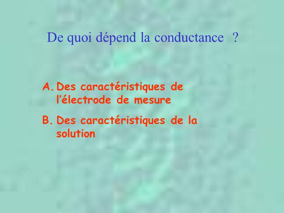 De quoi dépend la conductance .