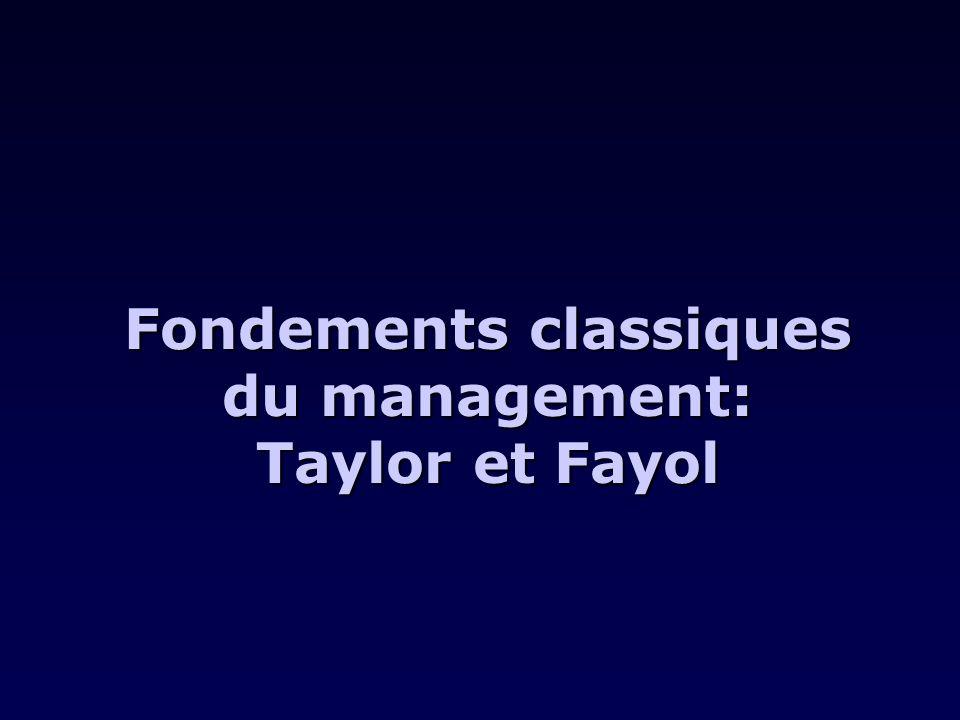 Quelles images de lindividu, de lentreprise et de lenvironnement dégage-t-on des écrits de Taylor et Fayol.
