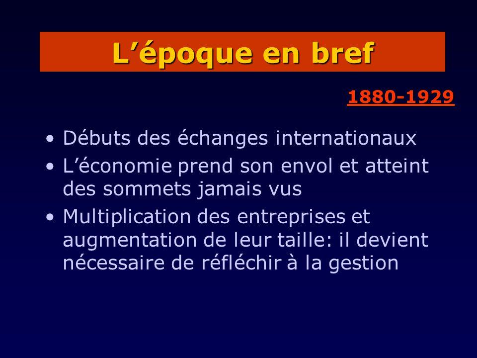 Débuts des échanges internationaux Léconomie prend son envol et atteint des sommets jamais vus Multiplication des entreprises et augmentation de leur