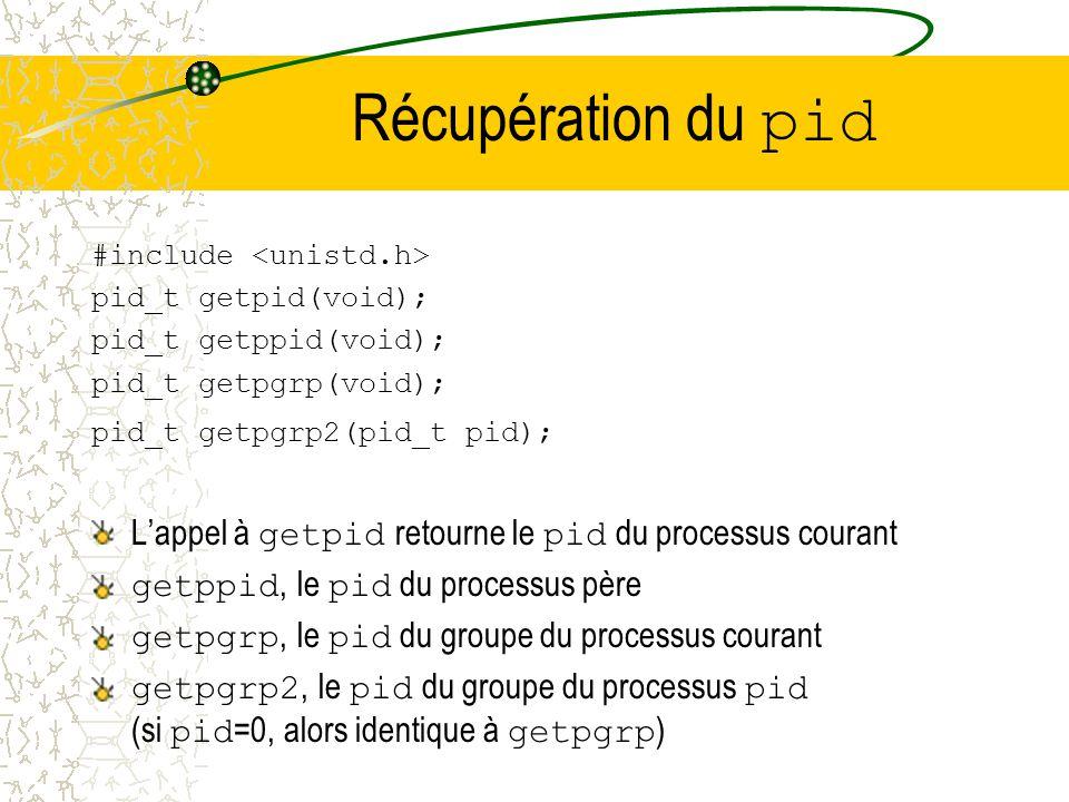 Changement des répertoires #include int chroot(const char* path); Permet de définir un nouveau point de départ pour les références absolues (commençan