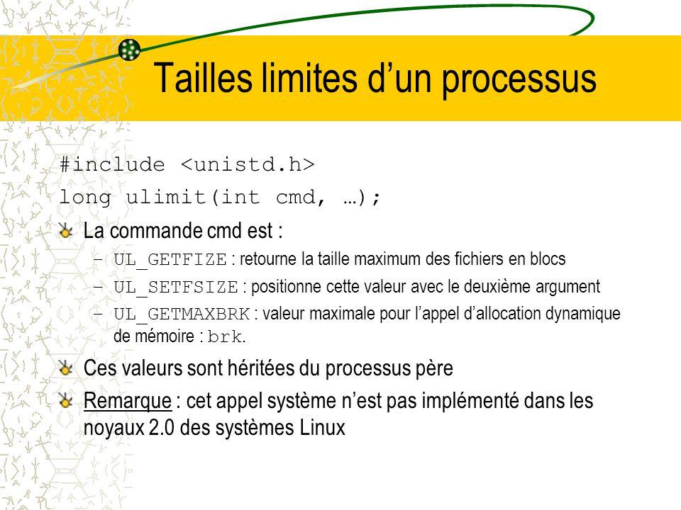 Identification de lutilisateur Luid dun processus est lidentification de lutilisateur exécutant le processus Le système utilise 3 uid : 1.euid : uid e