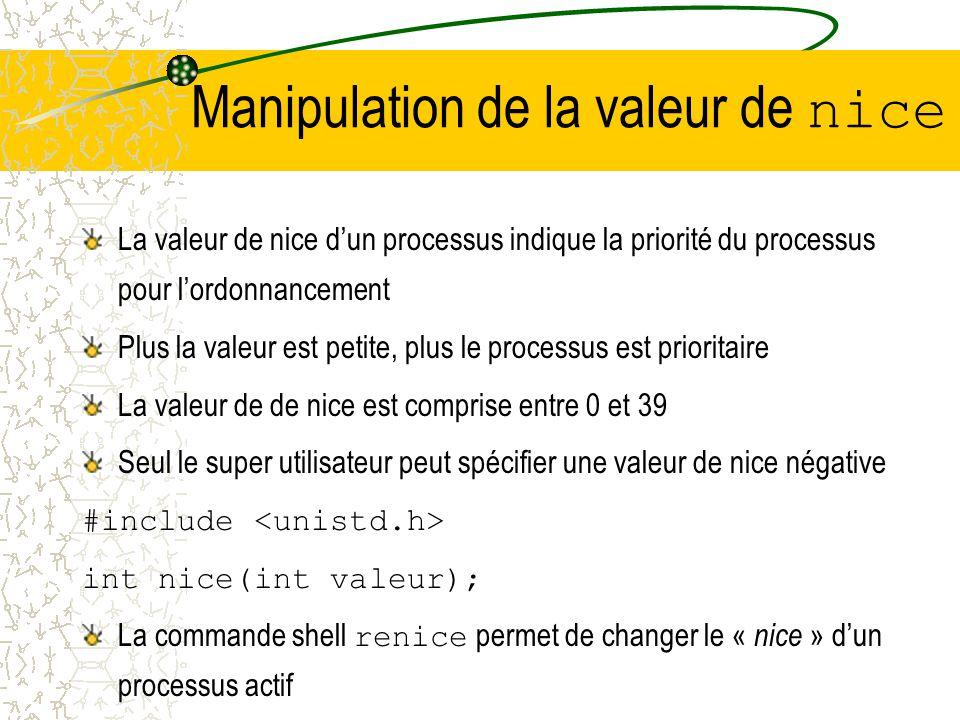 Manipulation de la taille du segment de données #include int brk(void* endds); void* sbrk(ptrdiff_t incr); brk positionne la fin du segment de données
