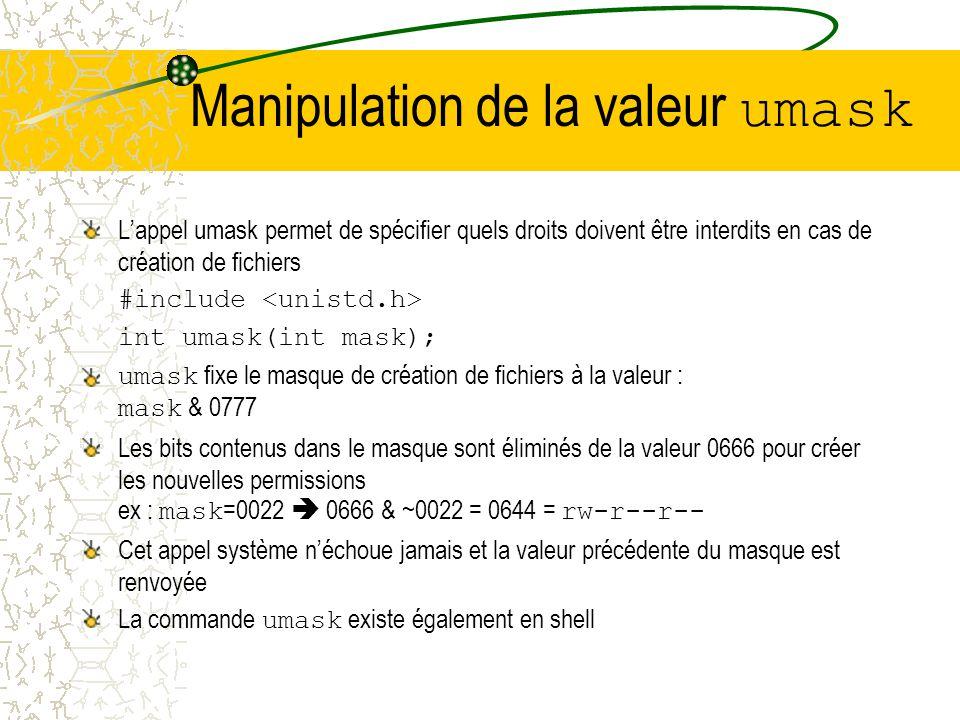 Manipulation de la valeur de nice La valeur de nice dun processus indique la priorité du processus pour lordonnancement Plus la valeur est petite, plu