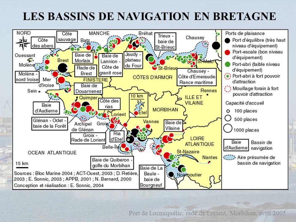 Port de Locmiquélic, rade de Lorient, Morbihan, avril 2005 QUELLE ENTITE SPATIALE POUR APPREHENDER LA PLAISANCE .