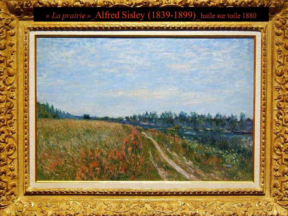 « La prairie »_ Alfred Sisley (1839-1899)_ huile sur toile 1880