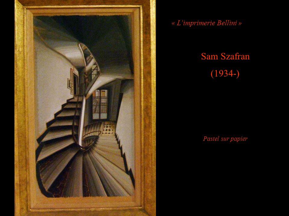« Limprimerie Bellini » Sam Szafran (1934-) Pastel sur papier