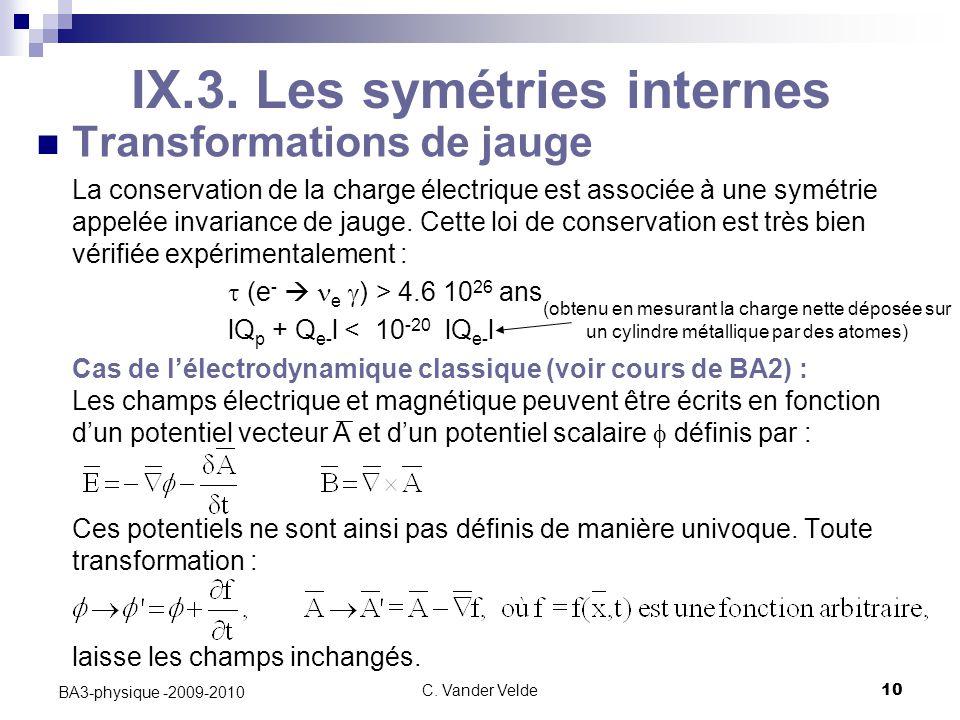 C.Vander Velde10 BA3-physique -2009-2010 IX.3.