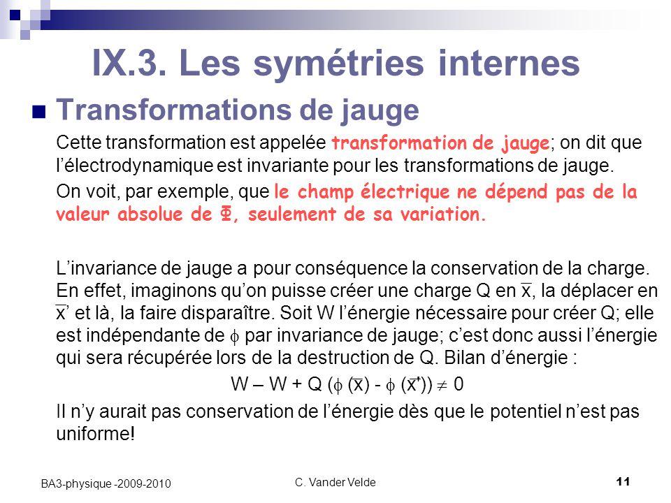 C.Vander Velde11 BA3-physique -2009-2010 IX.3.