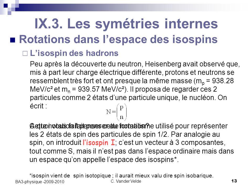 C.Vander Velde13 BA3-physique -2009-2010 IX.3.