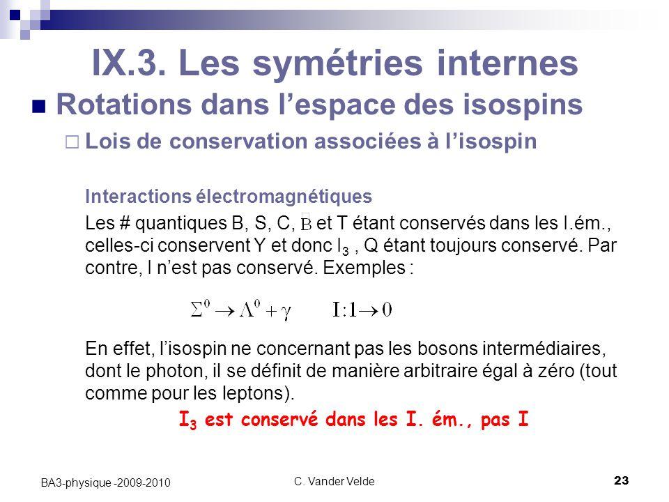 C.Vander Velde23 BA3-physique -2009-2010 IX.3.