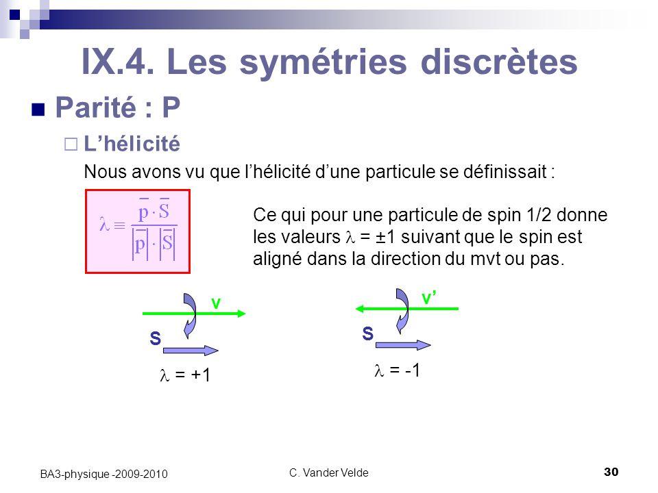 C.Vander Velde30 BA3-physique -2009-2010 IX.4.