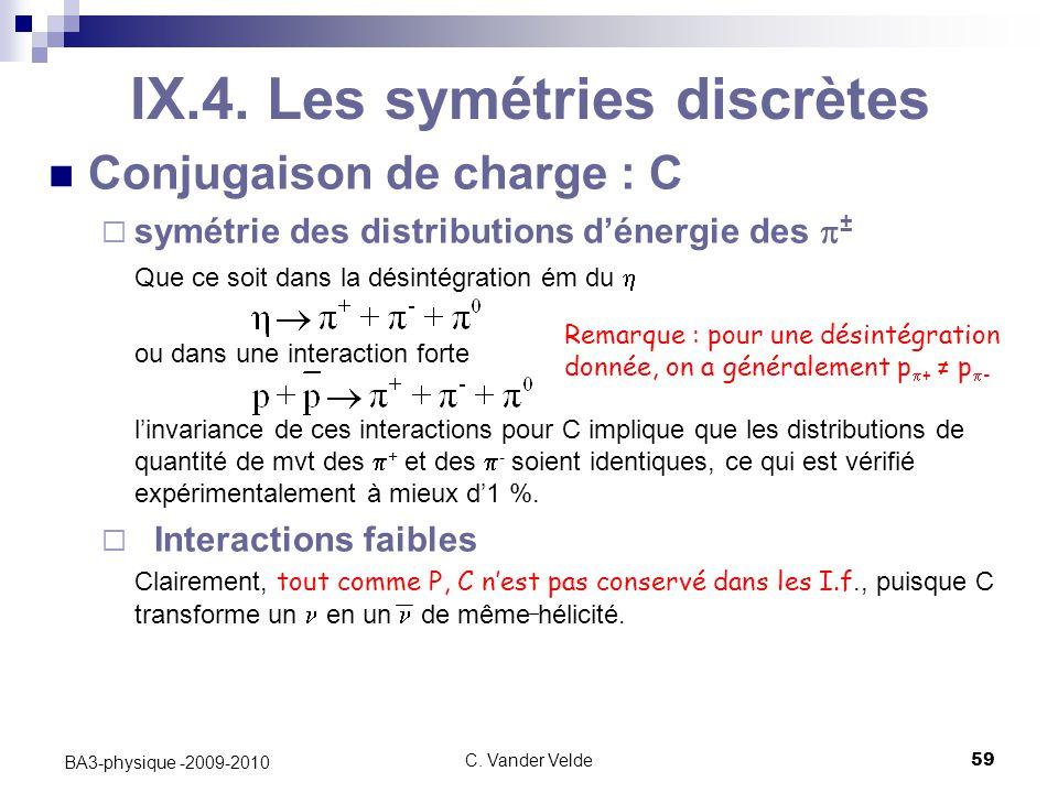 C.Vander Velde59 BA3-physique -2009-2010 IX.4.