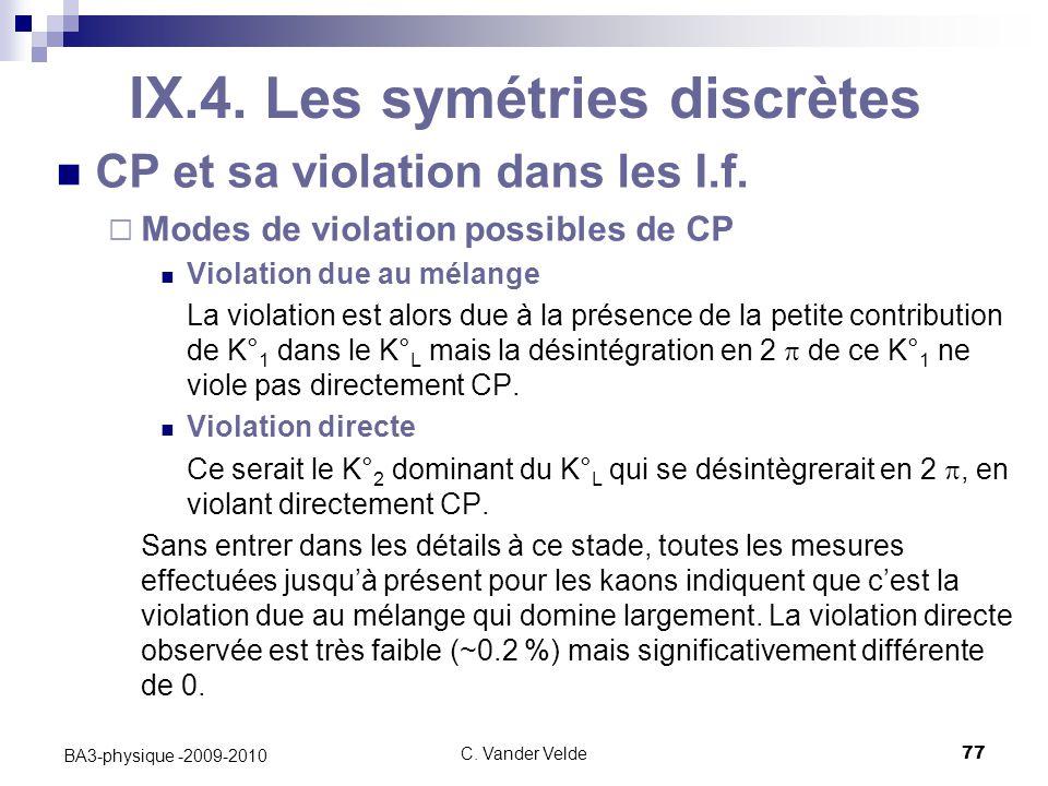 C.Vander Velde77 BA3-physique -2009-2010 IX.4.